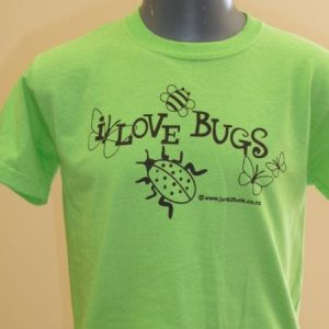 Kids 'I Love Bugs' Eco-Friendly And Fair Trade T-Shirt