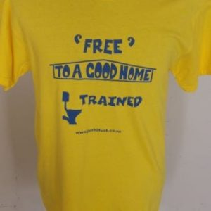 Free to a good home. Eco-friendly and fair trade tee.