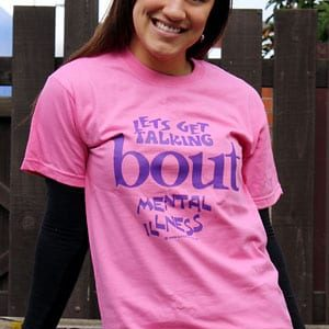 Junk2funk Tees 'Lets Get Talking Bout Mental Illness' Eco-Friendly And Fair Trade